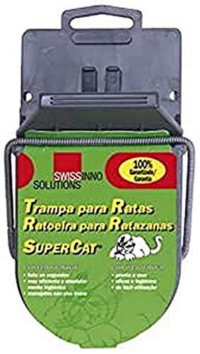 SUPERCAT 14040410 14040410-Trampa Ratas de plastico, Gris, 20x11x9 cm