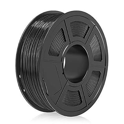 PLA Filament 1.75mm,3D Printer Filament,PLA 3D Filament,Dimensional Accuracy +/- 0.02 mm,1 KG/Spool-1.75 mm, Black PLA