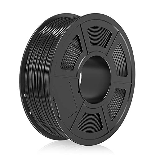 PLA Filament, 1.75mm 3D Printer Filament, 3D Warhorse PLA 3D Printing 1KG Spool, 0.02mm, Black