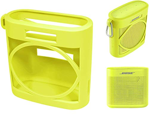 Silicone Cover Skin for Bose SoundLink Color Bluetooth Speaker II, by Alltravel, Full 6 Directions Protection, Customized Skin with Color and Shape Matching (Yellow Citrus)
