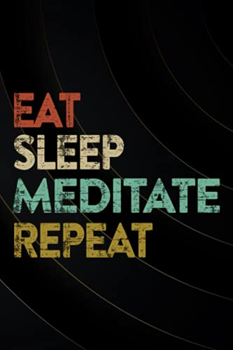 Eat Sleep Meditate Repeat Yoga Breathe In Meditation Art Password book: Log Book & Notebook for Passwords and ShitPassword book with tabsAlphabetized notebook,Organizer