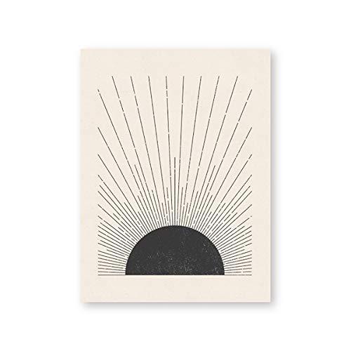 LiMengQi Minimalistischer Stil, geometrisches Marmor-Design, abstrakte dekorative Malerei auf Leinwand, Druckplakat, Wandkunstdekor für Zuhause, Restaurant (kein Rahmen)