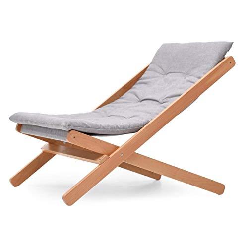 Opklapbare campingstoel Massief hout Eenvoudig huishouden Klapstoel/Grijs Afneembaar Siësta Rugleuningstoel/Balkon Casual versteviging Ligstoelen Strand