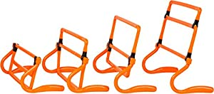Trademark Innovations Adjustable Speed Training Hurdles (Set of 5), Orange from Red Cup Pong