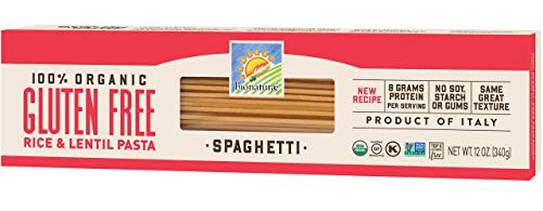 Bionaturae Spaghetti Gluten-Free Pasta | Rice and Lentil Spaghetti Pasta | Non-GMO | Lower Carb | Kosher | USDA Certified Organic | Made in Italy | 12 oz (12 pack)