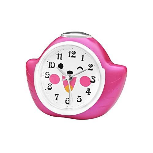 HIZ 4'Mini Sin tictac Clásico Reloj de Pulsera Reloj de Cuarzo para Niños de Dibujos Animados Silenciosos Creativos Silenciosos Reloj Perezoso (Color : Pink)