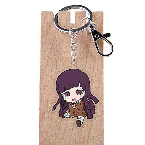 Tiffley Time Danganronpa Schlüsselanhänger, Anime Kawaii Schlüsselbund für Rucksack, Schlüssel und Mäppchen(Mikan Tsumiki)