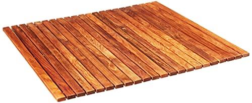 Bare Decor Fuji String Spa Shower Mat in Solid Teak...