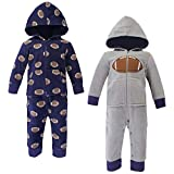 Hudson Baby Unisex Fleece Jumpsuits, Coveralls, and Playsuits, Football Baby, 6-9 Months