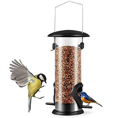 Comedero para pájaros, Comedero Colgante para Pájaros, Comedero Pajaros Exterior, Estación de Alimentación para Pájaros Silvestres Durante Todo el Año