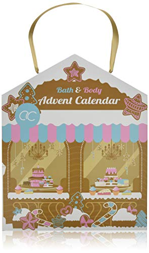 Accentra Beauty-Adventskalender Haus-Design mit Bath & Body Inhalt in sinnlichen Düften, Körperpflege, Badezusätze, Hautpflege & Kosmetik für Damen & Mädchen