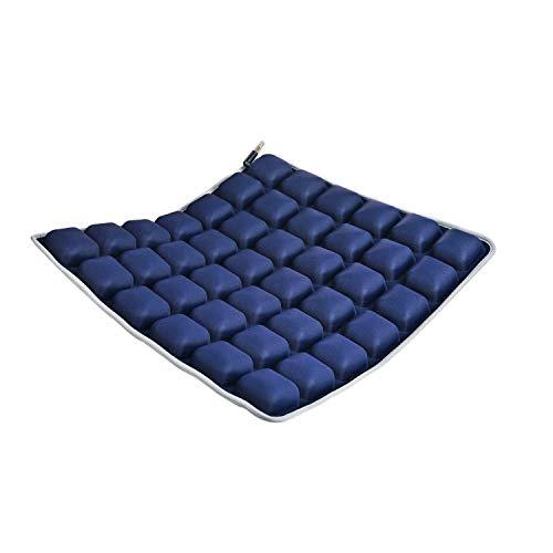 Tiamu Car Seat Pad - Air Vehicle Seat Cushion Water Fillable Chair Pad for Wheelchair, Office Chair, Cars, Home Living, Pressure Relief Pillow, Cool Non-Slip Hip Protector (Dark Blue)