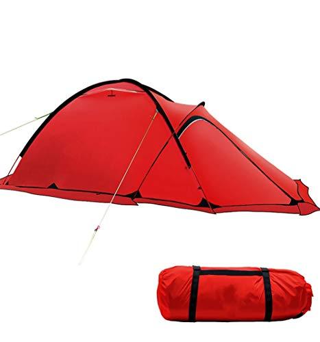Goushi Tienda Alpina de Invierno Ultraligera Impermeable 2 Personas 4 Estaciones Tiendas de campaña de montaña al Aire Libre Cinturón Reflectante Seguro Caminata turística (Color : Red)