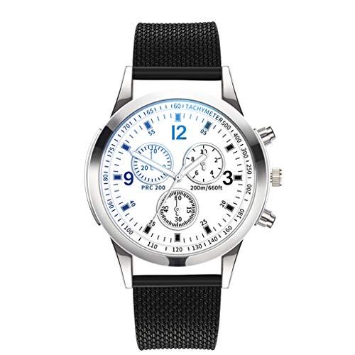 WoWer Herren Uhren Männer Militär Wasserdicht Sport Chronograph Schwarz Edelstahl Armbanduhr Design Business Datum Kalender Modisch Analog Quarzuhr