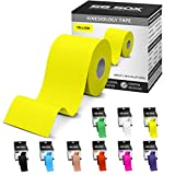 SB SOX Kinesiology Tape (16ft Uncut Roll) – Best Latex Free, Water Resistant Tape for Muscles & Joints – Perfect for Any Activity – Easy to Apply/Use, Works Great, Stays on for Several Days! (Yellow)
