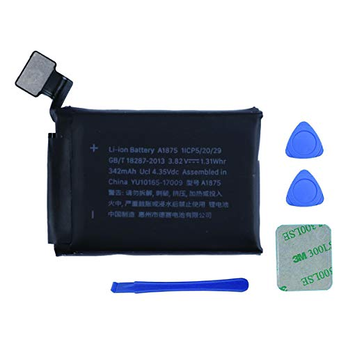 Swark Batería A1875 compatible con Apple Watch Series 3 42 mm versión GPS + herramientas