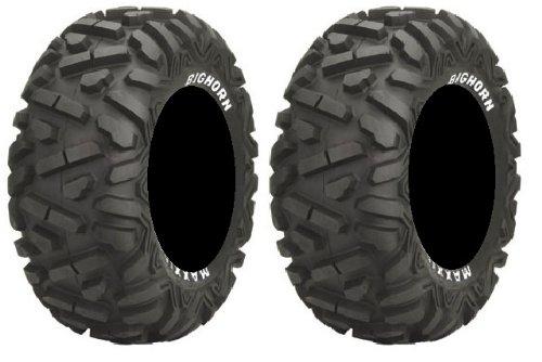 Pair of Maxxis BigHorn Radial 27x9-12 ATV Tires (2)