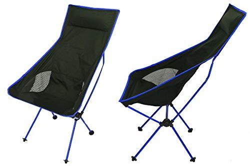 【WNJAPAN】 アウトドアチェア 軽量 ハイバック ジュラルミン製 キャンプ用品 椅子 レジャー BBQ 釣り ベランダ イベント (ブルー OH-15)