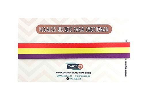 Tarja73 | Pulseras de tela con la Bandera de la 2ª República Española | Regalo Original | Bandera republicana