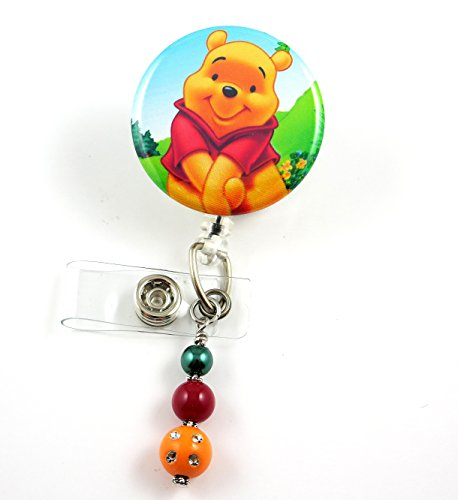 Cute Pooh Bear - Nurse Badge Reel - Retractable ID Badge Holder - Nurse Badge - Badge Clip - Badge Reels - Pediatric - RN - Name Badge Holder