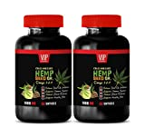 Pain Relief with Hemp Oil - Hemp Seed Oil for Anxiety 1400MG - Hemp Seed Capsules Organic - 2 Bottles 120 softgels