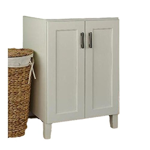 "JSI Trenton 2 Door Bathroom Vanity Base Cabinet in Ivory 36"" W x 34.5"" H x 21"" D"