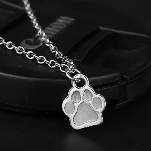 Collar Luminoso Amantes de los Perros La Pata de Perro Gato La Pata de Oso Collar Brillo en la Noche Oscura Luminosa para LOS SUYOS