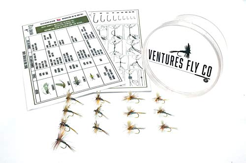 Ventures Fly Co. | Adams Baker's Dozen Pack | 13 Premium Hand-Tied Fly Fishing Flies | Water-Proof Fly Cup Included | Dry Flies Perfect for Trout, Bass, Panfish, Bluegill, and More!