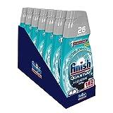 Finish Quantum + Higiene Gel Detergente para lavavajillas líquido con potencia de Napisan, Multiacción, Fresh, 182 lavados - 7 paquetes de 26 lavados
