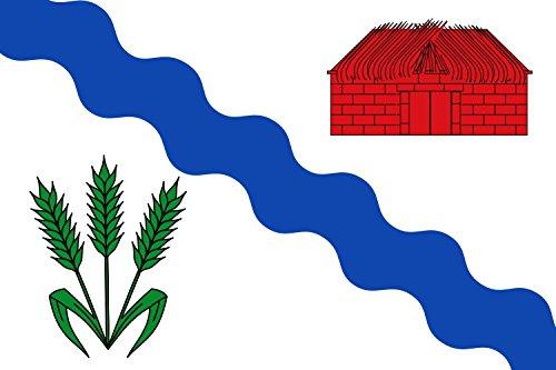magFlags Bandera Large Rectangular de Proporciones 2 3, Blanca | Bandera Paisaje | 1.35m² | 90x150cm