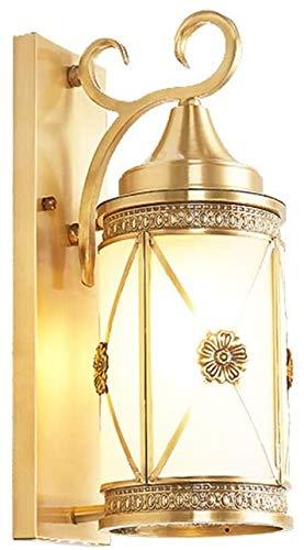 Wandlamp, buitenlamp, tuin, veranda, villa, binnenplaats, roestvrij, UL-gecertificeerd en watervaste gouden lamp, slaapkamer, kleding, badkamer, make-uptafel, lamp