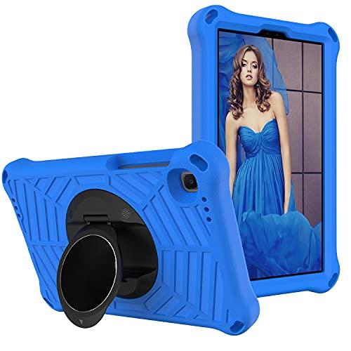 SZCINSEN Funda para tablet Samsung Galaxy Tab A7 Lite de 8.7 pulgadas (2021) SM-T220/SM-T225 para niños, a prueba de golpes, con soporte giratorio ligero y duradero, correa para el hombro (color azul)