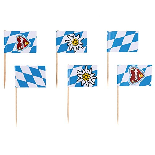 "Flaggenpicker/Deko-Picker""BAYERN - OKTOBERFEST"" (6,5 cm - 30 Stück)"