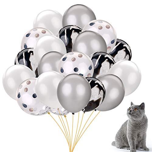 JUSTDOLIFE 20 STKS partij ballonnen glitter decoratieve latex ballonnen partij benodigdheden voor huisdier verjaardag 12 in Eén maat Multi kleuren 3