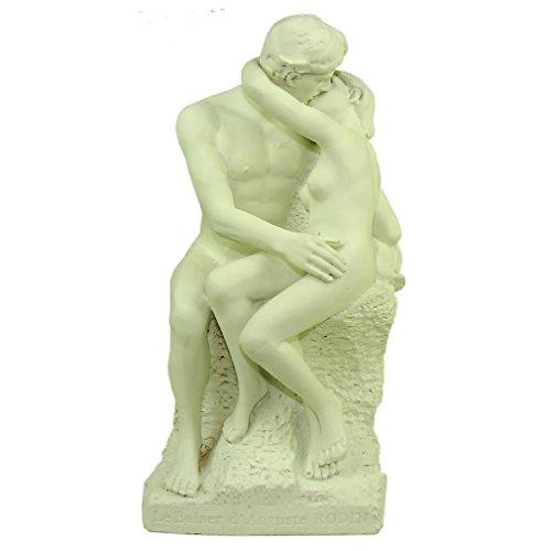 Recuerdos de Francia - 'el beso', estatua de Rodin - Altura: - Color 5.9in: blanco