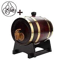 (:ブラウン、サイズ:1.5 / 3Lカラー)あなたのワインリキュールウイスキーウイスキー樽を格納するためのワイン樽オーク樽、1.5 / 3Lウイスキー樽、ホームデコレーションバケツ (Size : 1.5L)