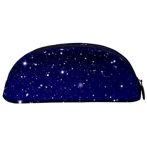 Shiiny Starry Sky Space Galaxy Pen and Pencil Graphic Ship - Estuche para lápices y cosméticos y bolsa de viaje, bolsa de papelería, regalo de cumpleaños escolar