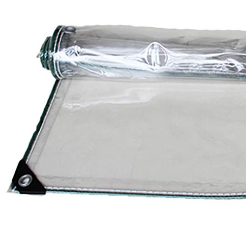 Lona Transparente Tela de Lluvia Engrosada paño Refugio Lona balcón Lluvia Lluvia de PVC de Aislamiento Lona Tela de Lluvia al Aire Libre lámina de plástico (Size : 1.6 * 2m)