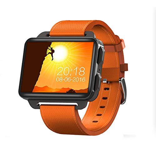 DHTOMC Pantalla grande deportes reloj adulto 3G Android Wifi tarjeta reloj inteligente Bluetooth llamada GPS posicionamiento-naranja