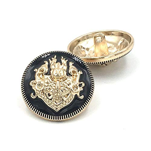 QWERTYU Lifqiangme modieuze knopen 6 stuks 20 mm gouden metalen knopen jurk mantel naaiaccessoires knopen voor kleding handwerk ronde jas knoop