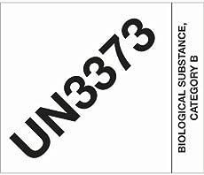 "Tape Logic DL1404 Labels,\\""UN3373 Biological Substance Category B\\"", 4\\"" x 4 3/4\\"", Black/White, 500 Per Roll"