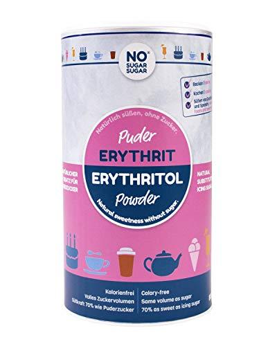 NO SUGAR SUGAR   Erythrit Puder (800g Dose) Puderzuckerersatz kalorienfrei
