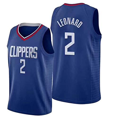 Rencai Kawhi Leonard Jersey # 2 del Baloncesto de los Hombres, Clippers Nueva Tela Alero Mangas de la Camisa de los Jerseys de Los Ángeles (Color : 3, Size : XS)