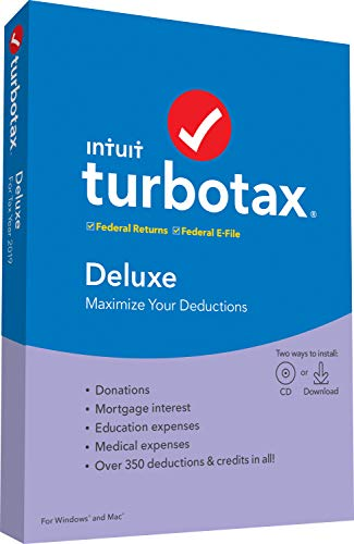 [Old Version] TurboTax Deluxe 2019 Tax Software [PC/Mac Disc]
