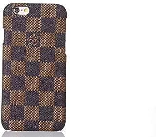 Street Fashion PU Leather iPhone 8 Plus Case, iPhone 7 Plus Case, Vintage Style Designer Slim Hard Cover Case for iPhone 7/8 Plus 5.5 Inches -Lattice Brown