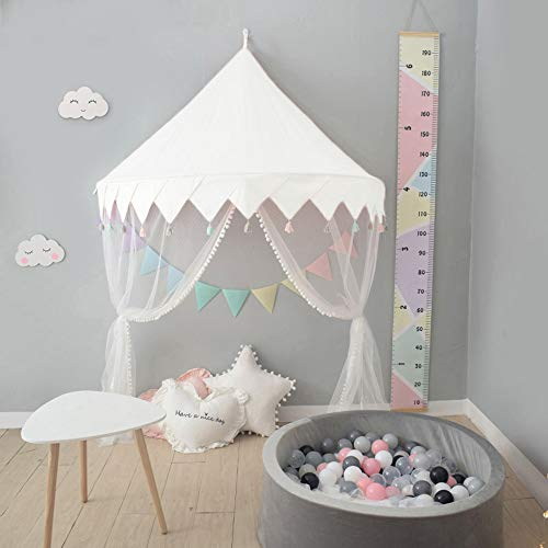 Nordic Ideas Ciel de Lit Blanc Baldaquin pour Lit Bebe Fille Garcon Moustiquaire Tente Lit Enfant Cadeau NTE002