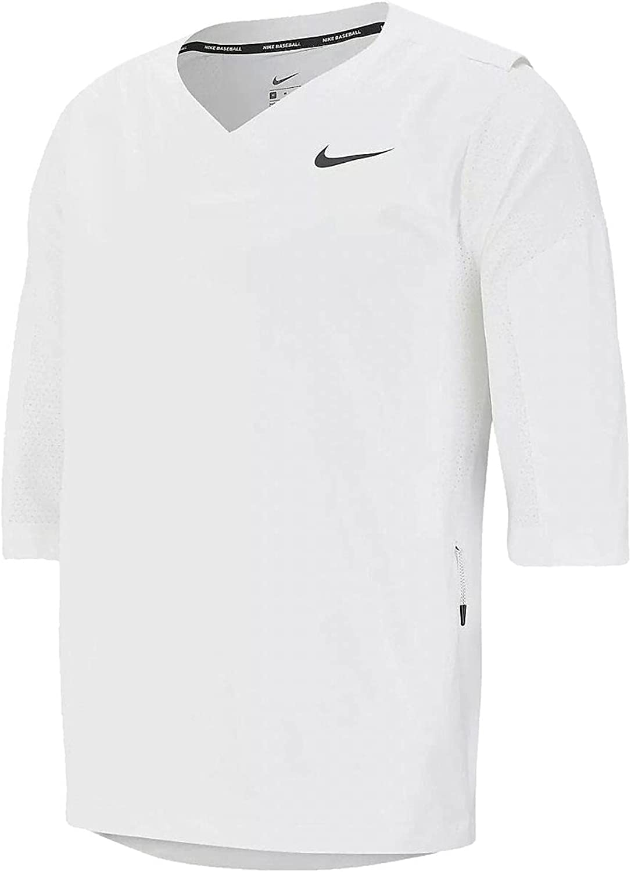 Nike Team Mens White 3/4 Sleeve Hot Jacket