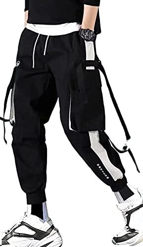 Streetwear Hip Hop Pants Cargo Pants Jogger Casual Active Sports Sweatpants für Herren Paar Damen Unisex - Schwarz - Mittel