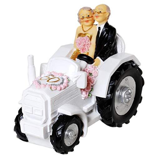 Hucha UDO Schmidt para bodas de oro, pareja de novios en tractor,...