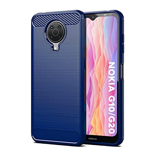 SCL Nokia G10/G20 Hülle Für Nokia G10/G20 Hülle, [Blau] Handyhülle Exquisite Serie-Carbon Design Schutzhülle mit Anti-Kratzer & Anti-Stoß Absorbtion Technologie für Nokia G10/G20